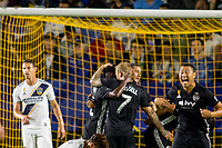 CARSON, CA - SEPTEMBER 15: Sporting Kansas City celebrates a goal during a game between Sporting Kansas City and Los Angeles Galaxy at Dignity Health Sports Park on September 15, 2019 in Carson, California.