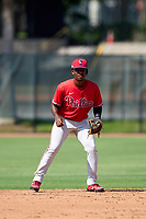 Philadelphia Phillies shortstop Jamari Baylor (3) during an Extended Spring Training game against the Toronto Blue Jays on June 12, 2021 at the Carpenter Complex in Clearwater, Florida. (Mike Janes/Four Seam Images)