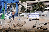 - France, French Riviera, entrance to the tourist harbor of Menton<br /> <br /> - Francia, Costa Azzurra, ingresso del porto turistico di Mentone