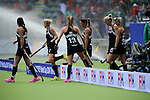 The Hague, Netherlands, May 31: Players of New Zealand move back on the pitch after halftime during the field hockey group match (Group A) between New Zealand´s Black Sticks and Belgium on May 31, 2014 during the World Cup 2014 at Kyocera Stadium in The Hague, Netherlands. Final score 4:3 (3:0) (Photo by Dirk Markgraf / www.265-images.com) *** Local caption ***