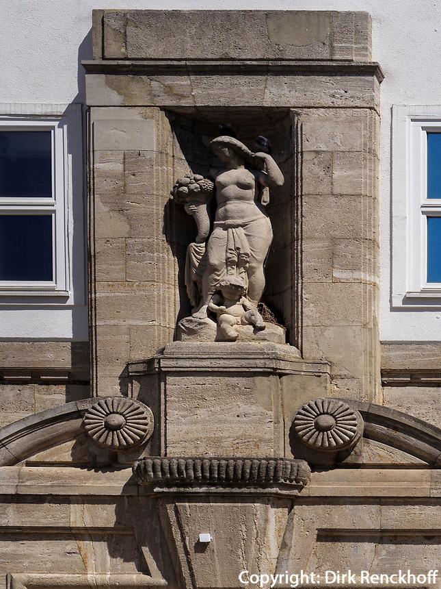 Hausfassade am Andreasplatz, Hildesheim, Niedersachsen, Deutschland, Europa<br /> facade at Andreas square, Hildesheim, Lower Saxony, Germany, Europe