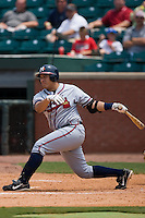Mississippi first baseman Kala Ka'aihue (52) follows through on his swing versus Chattanooga at AT&T Field in Chattanooga, TN, Wednesday, July 25, 2007.