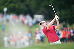 Justin Rose of England hits the ball during Hong Kong Open golf tournament at the Fanling golf course on 25 October 2015 in Hong Kong, China. Photo by Xaume Olleros / Power Sport Images
