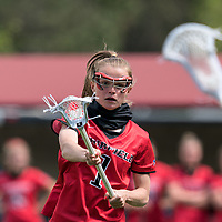 NEWTON, MA - MAY 14: Maggie Fort #1 of Fairfield University passes the ball during NCAA Division I Women's Lacrosse Tournament first round game between Fairfield University and Boston College at Newton Campus Lacrosse Field on May 14, 2021 in Newton, Massachusetts.