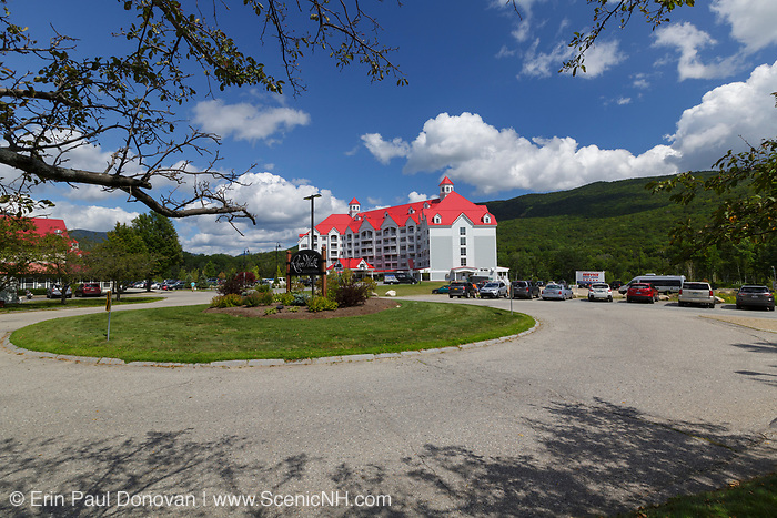 RiverWalk Resort at Loon Mountain in Lincoln, New Hampshire. This resort occupies the site of the old mill complex that J.E Henry and Sons built in the early 1900s. Henry's sons sold the town and the Easy Branch & Lincoln Railroad to the Parker-Young Company in 1917. And the Parker-Young Company ran the mill and the East Branch & Lincoln Railroad until 1946 when they sold both to the Marcalus Manufacturing Company. From 1970-1980, the mill changed hands a number of times, and attempts were made to operate it but they all failed and the final day of operation was June 11, 1980. In 2009 the remaining mill buildings were torn down.