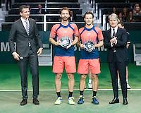 ABN AMRO World Tennis Tournament, Rotterdam, The Netherlands, 19 Februari, 2017, Matwe Middelkoop (NED), Wesley Koolhof (NED)<br /> Photo: Henk Koster
