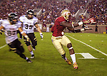 FSU running back Karlos Williams makes a reception in the second half when the #2 ranked Florida State Seminoles defeated the Idaho Vandals 80-14 at Doak S Campbell Stadium in Tallahassee, Florida.