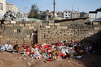 A pile of refuse in Zijun village, home of the Samatao minority.
