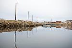 The harbour of the quiet town of Qikiqtarjuaq in Northern Canada. Qikiqtarjuaq is located in Nunavut on Baffin Island.