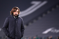 Andrea Pirlo coach of Juventus FC looks on during the Serie A football match between Juventus FC and US Sassuolo Calcio at Allianz stadium in Torino (Italy), January 10th, 2021. Photo Federico Tardito / Insidefoto