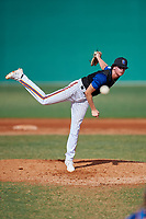 Kadin Muckley (5) during the WWBA World Championship at Terry Park on October 11, 2020 in Fort Myers, Florida.  Kadin Muckley, a resident of Cardiff, California who attends San Dieguito High Academy.  (Mike Janes/Four Seam Images)