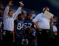 Sep 25, 2005; Seattle, WA, USA; Seattle Seahawks head coach Mike Holmgren against the Arizona Cardinals in the second quarter at Qwest Field. Mandatory Credit: Photo By Mark J. Rebilas
