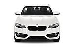 Car photography straight front view of a 2018 BMW 2 Series Sport 2 Door Convertible