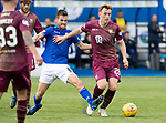 Queen of the South v St Johnstone…18.08.18…  Palmerston    BetFred Cup<br />LIam Craig is fouled by Kyle Jacobs<br />Picture by Graeme Hart. <br />Copyright Perthshire Picture Agency<br />Tel: 01738 623350  Mobile: 07990 594431