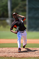 Miami Marlins pitcher Jarlin Garcia (53) during a minor league spring training game against the New York Mets on March 30, 2015 at the Roger Dean Complex in Jupiter, Florida.  (Mike Janes/Four Seam Images)