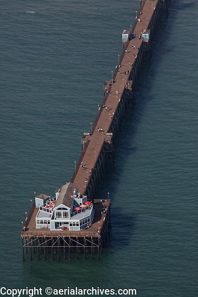 aerial photograph Oceanside Pier, Oceanside, San Diego County, California