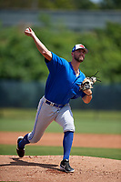 Toronto Blue Jays pitcher Fitz Stadler (45) during a Minor League Spring Training game against the Philadelphia Phillies on March 29, 2019 at the Carpenter Complex in Clearwater, Florida.  (Mike Janes/Four Seam Images)