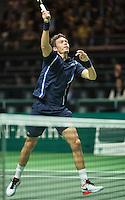 Rotterdam, The Netherlands, February 12, 2016,  ABNAMROWTT, Nicolas Mahut (FRA)<br /> Photo: Tennisimages/Henk Koster