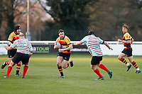 Tom Hodgson of Richmond Rugby in action Tom Hodgson of Richmond Rugby during the English National League match between Richmond and Blackheath  at Richmond Athletic Ground, Richmond, United Kingdom on 4 January 2020. Photo by Carlton Myrie.