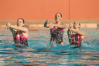 STANFORD, CA - FEBRUARY 13:  Synchronized swimmers during Stanford's win over Arizona on February 13, 2010 at the Avery Aquatic Center in Stanford, California.