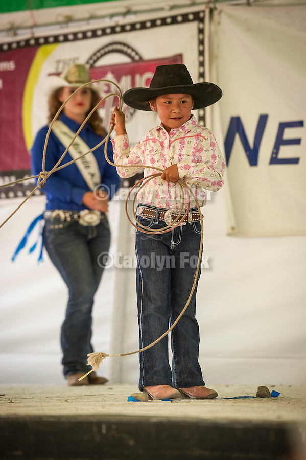 Winnemucca's Tri County Fair, Labor Day weekend<br /> <br /> Brianna Sherburn, winner of the buckle for the Dummy Roping