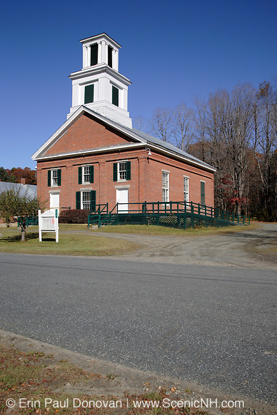 United Church of Cornish during the autumn months. Located in Cornish, New Hampshire  USA  which is part of scenic New England.