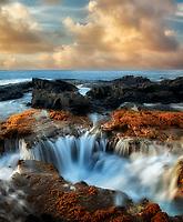 Ocean water drain well. Hawaii Island. The Big Island