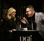 Judith Light and Jon Robin Baitz during the 2019 DGF Madge Evans And Sidney Kingsley Awards at The Lambs Club on March 18, 2019 in New York City.