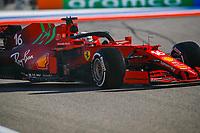 24th September 2021; Sochi, Russia; F1 Grand Prix of Russia free practise sessions;  16 LECLERC Charles mco, Scuderia Ferrari SF21, action during the Formula 1 VTB Russian Grand Prix 2021