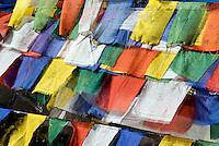 Prayer flags at Dochu La, Bhutan.