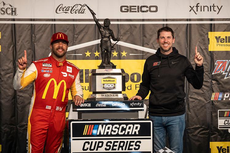 #23: Bubba Wallace, 23XI Racing, Toyota Camry McDonald's and team owner Denny Hamlin