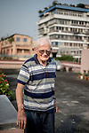 Father Laborde stands on the roof top of  his residence in Kolkata, West Bengal, India, Arindam Mukherjee/Agency Genesis