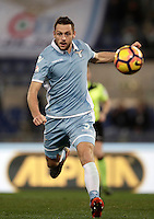 Calcio, Serie A: Roma, stadio Olimpico, 1marzo 2017.<br /> Lazio's Stefan De Vrij in action during the Italian TIM Cup 1st leg semifinal football match between Lazio and AS Roma at Rome's Olympic stadium, on March 1, 2017.<br /> UPDATE IMAGES PRESS/Isabella Bonotto