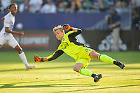 CARSON, CA - JUNE 19: Stefan Cleveland #30 of the Seattle Sounders FC looking to make a save during a game between Seattle Sounders FC and Los Angeles Galaxy at Dignity Health Sports Park on June 19, 2021 in Carson, California.