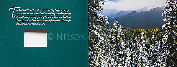 Nelson Kenter photo of early season snow in the mountains used on a cover piece for the National Forest Foundation