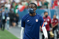 DENVER, CO - JUNE 6: Tim Weah of the United States during a game between Mexico and USMNT at Mile High on June 6, 2021 in Denver, Colorado.