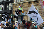 Helsinki Calling peace marchers march from City Park to Senate Square through central Helsinki a day ahead of the summit between US President Donald Trump and Russian President Vladimir Putin in Helsinki, Finland on July 15, 2018.