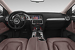 Stock photo of straight dashboard view of a 2015 Audi Q7 - 5 Door Suv 2WD Dashboard