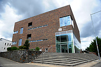 Pictured: A general view of Newport Magistrates' Court<br /> Re: Following the discovery of the body of 54 year old David Gaut at an address in Long Row, in the Elliots Town area of New Tredegar, south Wales, on Saturday 4th August 2018, three men have been charged in relation to his death.<br /> 47-year-old Darren Evesham, 23-year-old Ieuan Harley and 51-year-old David Osbourne, all from the New Tredegar area, have each been charged with murder.<br /> All three are due to appear in Newport Magistrates' Court on Thursday, 9th August 2018.