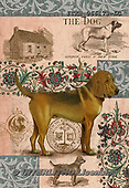 Isabella, REALISTIC ANIMALS, REALISTISCHE TIERE, ANIMALES REALISTICOS, paintings+++++,ITKE066173-LC,#a#, EVERYDAY ,dogs ,collage