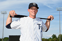 Tampa Yankees catcher Peter O'Brien (24) poses for a photo on April 14, 2014 at George M. Steinbrenner Field in Tampa, Florida.  (Mike Janes/Four Seam Images)