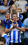 Huddersfield Town 1 Wolverhampton Wanderers 0, 27/08/2016. John Smith's Stadium, Championship. Celebrating Huddersfield fans in the singing area in the Chadwick Stand. Photo by Paul Thompson.