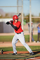 Keola Baily (53), from Laie, Hawaii, while playing for the Cardinals during the Under Armour Baseball Factory Recruiting Classic at Gene Autry Park on December 27, 2017 in Mesa, Arizona. (Zachary Lucy/Four Seam Images)