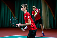 Wateringen, The Netherlands, December 15,  2019, De Rhijenhof , NOJK juniors doubles 12/14/16  years, Brian Bozemoj (NED) and Stijn Paardekooper (NED) (L)<br /> Photo: www.tennisimages.com/Henk Koster
