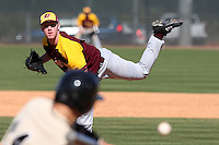 March 7, 2010:  Pitcher Dietrich Enns (32) of the Central Michigan Chippewas during game at Jay Bergman Field in Orlando, FL.  Central Michigan defeated Central Florida by the score of 7-4.  Photo By Mike Janes/Four Seam Images