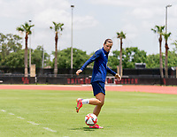 HOUSTON, TX - JUNE 8: Tobin Heath #17 of the USWNT juggles the ball after a training session at the University of Houston on June 8, 2021 in Houston, Texas.