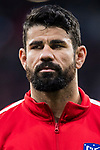 Diego Costa of Atletico de Madrid looks on prior to the UEFA Europa League 2017-18 Round of 16 (1st leg) match between Atletico de Madrid and FC Lokomotiv Moscow at Wanda Metropolitano  on March 08 2018 in Madrid, Spain. Photo by Diego Souto / Power Sport Images