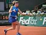 May 27,2016:   Lucie Safarova (CZE) loses to Samantha Stosur (AUS) 6-3, 6-7, 7-5, at  Roland Garros being played at Stade Roland Garros in Paris, France.  ©Leslie Billman/Tennisclix/CSM