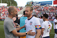 SANDY, UT - JUNE 10: Head coach Gregg Berhalter and Team Ream #13 of the United States during a game between Costa Rica and USMNT at Rio Tinto Stadium on June 10, 2021 in Sandy, Utah.