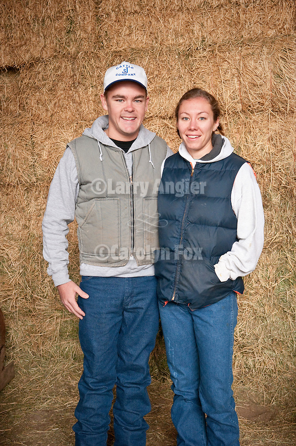 Families gather after Christmas at the Cuneo Ranch in California's Mother Lode--Tristan and Jess